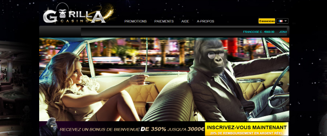 Gorilla Casino screenshot