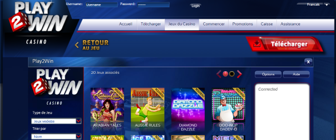 Play2win Casino screenshot